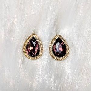 Jewelry - Garnet Crystal Teardrop Earrings